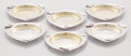 Silver Holloware, American:Plates, A SET OF SIX AMERICAN SILVER, SILVER GILT AND MIXED METAL BUTTERPATS. Whiting Manufacturing Company, New York, New York, ci...(Total: 6 Items)