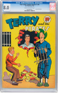Golden Age (1938-1955):Adventure, Four Color (Series One) #9 Terry and the Pirates (Dell, 1940) CGC VF 8.0 Cream to off-white pages....