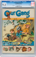 Golden Age (1938-1955):Humor, Our Gang Comics #11 File Copy (Dell, 1944) CGC NM- 9.2 Cream to off-white pages....