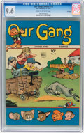 Golden Age (1938-1955):Humor, Our Gang Comics #13 File Copy (Dell, 1944) CGC NM+ 9.6 Cream to off-white pages....