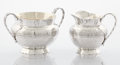 Silver Holloware, American:Creamers and Sugars, AN AMERICAN SILVER AND SILVER GILT SUGAR BOWL AND CREAMER . George W. Shiebler & Co., New York, New York, circa 1880. Marks:... (Total: 2 Items)