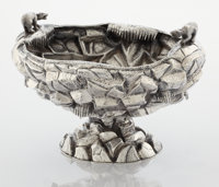 AN AMERICAN SILVER ICE BOWL Maker unknown, circa 1880 Marks: FORD & TUPPER, 925 STERLING 7 x 9-3/