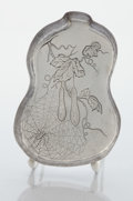 Silver & Vertu:Hollowware, AN AMERICAN SILVER GOURD SHAPE TRAY. Whiting Manufacturing Company, New York, New York, circa 1880. Marks: (griffin with W),...