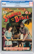 Golden Age (1938-1955):Religious, Picture Stories from the Bible - New Testament Edition #1 - GainesFile pedigree 6/12 (EC, 1946) CGC NM 9.4 Off-white to white...