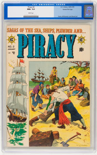Piracy #2 Gaines File pedigree 5/12 (EC, 1955) CGC NM+ 9.6 White pages