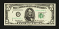 Small Size:Federal Reserve Notes, Fr. 1966-B* $5 1950E Federal Reserve Star Note. Choice Crisp Uncirculated.. ...
