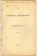 Books:Non-fiction, Texas Revolution: The General Convention at Washington, March1-17, 1836. 4to. 84pp. Disbound from H. P. N. Gamm...
