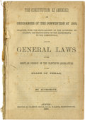 Books:Periodicals, The Constitution as Amended, and Ordinances of the Convention of1866, Together with the Proclamation of the Governor Declar...