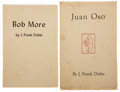 Books:Signed Editions, J. Frank Dobie. Two Inscribed Pamphlets, including: Bob More, Man and Bird Man. [Dallas], 1941. First edition. I... (Total: 2 Items)
