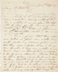 Autographs:Statesmen, [Henry M. Morfit] Texas Revolution: Autograph Letter SignedRequesting Land for the Family of a Victim of the Goliad M...