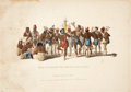 """Antiques:Posters & Prints, McKenney & Hall: """"War Dance of the Sauks and Foxes"""" Hand-Colored Lithograph, 1834...."""