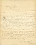 Autographs:Military Figures, Mexican War: Robert E. Lee Autograph Letter Signed as Captain of Engineers. Two pages, with integral address leaf, penned by...