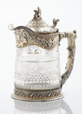 Silver Holloware, American:Pitchers, AN AMERICAN SILVER GILT AND GLASS PITCHER. Gorham Mfg. Co., Providence, Rhode Island, 1893. Marks: (lion-anchor-G), STERLI...