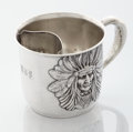 Silver Holloware, American:Cups, AN AMERICAN SILVER MUSTACHE CUP. Unger Brothers, Newark, NewJersey, circa 1880. Marks: UB (conjoined) STERLING 925FI...