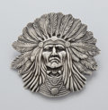 Jewelry, AN AMERICAN SILVER PIN. Unger Bros., Newark, New Jersey, circa 1880. Marks: UB (conjoined) STERLING 925 FINE. 2-5/8 ...