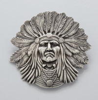 AN AMERICAN SILVER PIN Unger Bros., Newark, New Jersey, circa 1880 Marks: UB (conjoined) STERLING