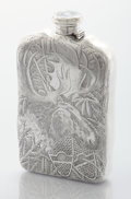 Silver Holloware, American:Flasks, AN AMERICAN SILVER FLASK. Tiffany & Co., New York, New York,1882. Marks: TIFFANY & CO., STERLING, 7076 MAKERS 7924, 13/4...