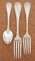 Silver Flatware, American:Wood & Hughes, AN AMERICAN SILVER FLATWARE SERVICE. Wood & Hughes, New York,New York, circa 1878. Marks: W & H, STERLING, PAT. 1878.7... (Total: 36 Items)