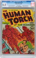 Golden Age (1938-1955):Superhero, The Human Torch #2 (#1) (Timely, 1940) CGC FN+ 6.5 Off-white to white pages....