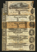 Confederate Notes:1863 Issues, $50 Face Confederate Money.. ... (Total: 6 notes)