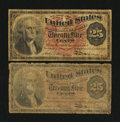 Two 25c Fourth Issue Notes