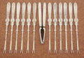 Silver & Vertu:Flatware, A CASED AMERICAN SILVER LOBSTER SET . Frank W. Smith Silver Co., Gardner, Massachusetts, circa 1890. Marks: (lion on crescen... (Total: 13 Items)