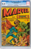 Golden Age (1938-1955):Superhero, Marvel Mystery Comics #8 (Timely, 1940) CGC VF 8.0 Cream to off-white pages....