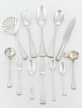 Silver Flatware, Continental:Flatware, AN ITALIAN SILVER FLATWARE SERVICE. Buccellati, Rome, Italy, 20thcentury. Marks: BUCCELLATI, STERLING, ITALY, knife bla...(Total: 71 Items)