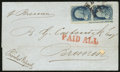 Stamps, 1860. August 4, New Orleans, La. to Bremen....