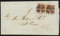 Stamps, 1869, September 11, Baltimore, Md. to St. Lucia, B.W.I. via St. Thomas....