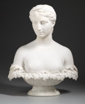 Fine Art - Sculpture, American:Antique (Pre 1900), HIRAM POWERS (American, 1805-1873). Proserpine, modeled1844. Marble. 24 inches (61.0 cm) high. Inscription on front of ...