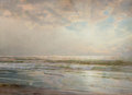 Fine Art - Work on Paper, WILLIAM TROST RICHARDS (American, 1833-1905). Seascape,1901. Watercolor on paper. 14 x 20 inches (35.6 x 50.8 cm). Sign...