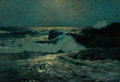 Fine Art - Painting, American:Modern  (1900 1949)  , FROM THE ESTATE OF CHARLES MARTIGNETTE. FREDERICK JUDD WAUGH(American, 1861-1940). Early Moonrise, 1910. Oil on canva...