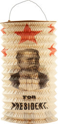 Political:3D & Other Display (pre-1896), Hancock & English: Superb Accordion Paper Lantern Picturing the Candidates....