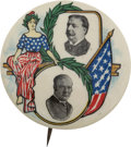 Political:Pinback Buttons (1896-present), Taft & Sherman: One of the Great Jugate Button Designs of1908....
