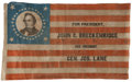 Political:Textile Display (pre-1896), John C. Breckinridge: Monumentally Important 1860 Portrait Campaign Flag Banner....