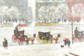 Fine Art - Painting, American:Modern  (1900 1949)  , GUY CARLETON WIGGINS (American, 1883-1962). Old and NewYork. Oil on canvas. 28 x 42-1/2 inches (71.1 x 108.0 cm).Signe...