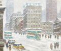 Fine Art - Painting, American:Modern  (1900 1949)  , PROPERTY OF A PRIVATE DALLAS ART COLLECTOR. GUY CARLETON WIGGINS(American, 1883-1962). Fifth Avenue Looking Towards the...