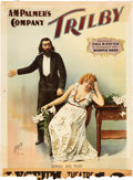 "Antiques:Posters & Prints, ""A. M. Palmer's Company Trilby"" Stage Play Advertising Poster, Circa 1895...."