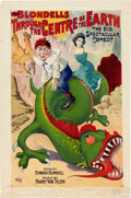"Entertainment Collectibles:Theatre, ""Through the Centre of the Earth"" The Blondells Musical ComedyPoster, Circa 1905...."