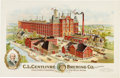 "Advertising:Breweriana, ""C. L. Centlivre Brewing Co."" Advertising Poster, Circa 1895...."