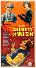 "Entertainment Collectibles:Movie, ""The Secrets of Wu Sin"" Three Sheet Movie Poster, 1932. ..."
