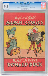 March of Comics #4 Donald Duck (K. K. Publications, Inc., 1947) CGC NM+ 9.6 Off-white to white pages