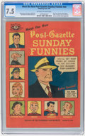 Golden Age (1938-1955):Miscellaneous, Meet the New Post-Gazette Sunday Funnies #nn (Pittsburgh Post, 1949) CGC VF- 7.5 Off-white to white pages....