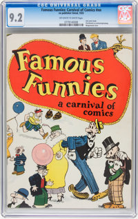 Famous Funnies: A Carnival of Comics #nn (Eastern Color, 1933) CGC NM- 9.2 Off-white to white pages