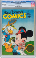 Golden Age (1938-1955):Cartoon Character, Walt Disney's Comics and Stories #49 (Dell, 1944) CGC VF/NM 9.0 Cream to off-white pages....