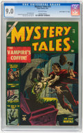 "Golden Age (1938-1955):Horror, Mystery Tales #15 Davis Crippen (""D"" Copy) pedigree (Atlas, 1953)CGC VF/NM 9.0 Off-white pages...."