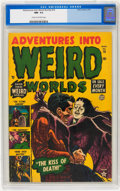 Golden Age (1938-1955):Horror, Adventures Into Weird Worlds #16 (Atlas, 1953) CGC NM- 9.2 Cream tooff-white pages....