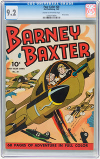 Four Color #20 Barney Baxter (Dell, 1943) CGC NM- 9.2 Cream to off-white pages