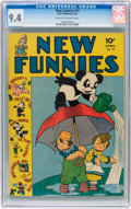 Golden Age (1938-1955):Cartoon Character, New Funnies #74 (Dell, 1943) CGC NM 9.4 Cream to off-white pages....